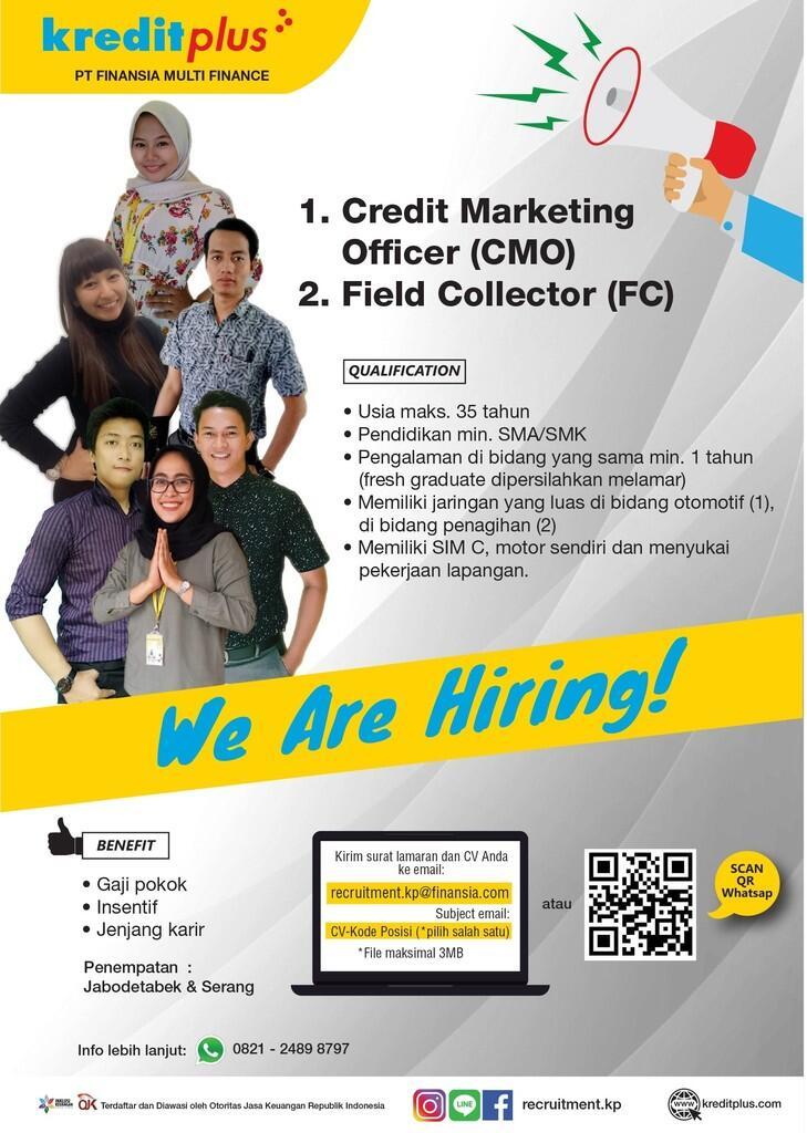 Lowongan Kerja PT. Finansia Multi Finance (Kredit Plus)