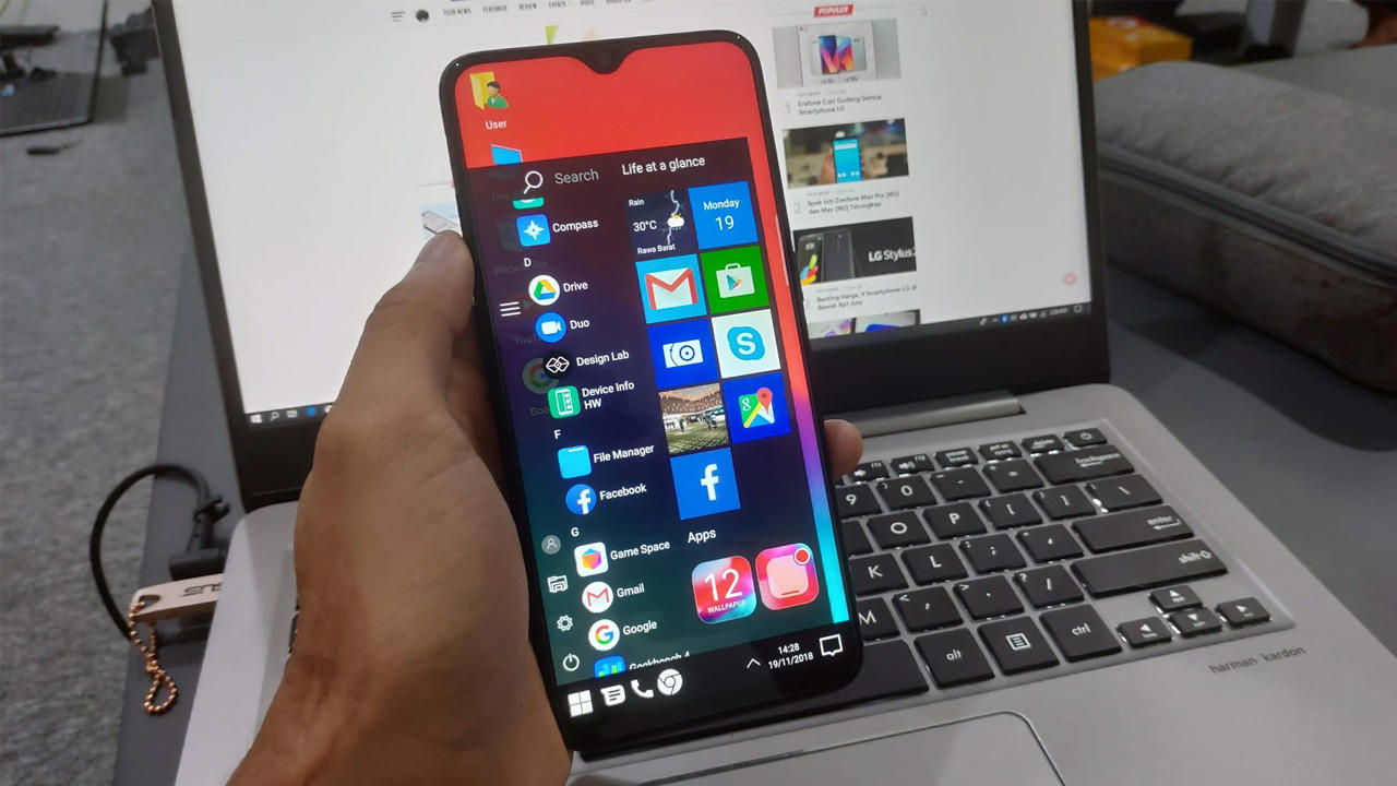 Cara Ubah Tampilan Android Agan Jadi Windows 10