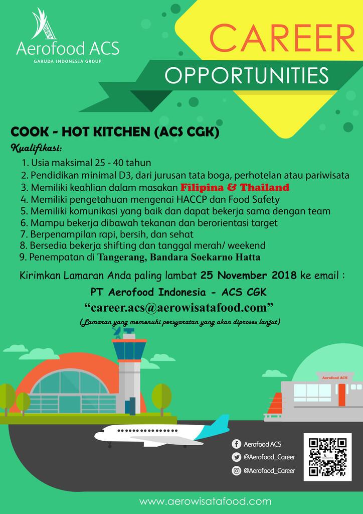 Lowongan Kerja PT Aerofood Indonesia - Unit CGK