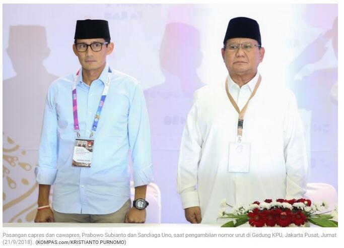 Belum Dapatkan Donatur, Paslon Prabowo-Sandi Siasati Dana Kampanye yang Menipis