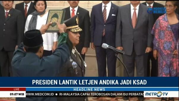 Andika Perkasa Resmi KSAD