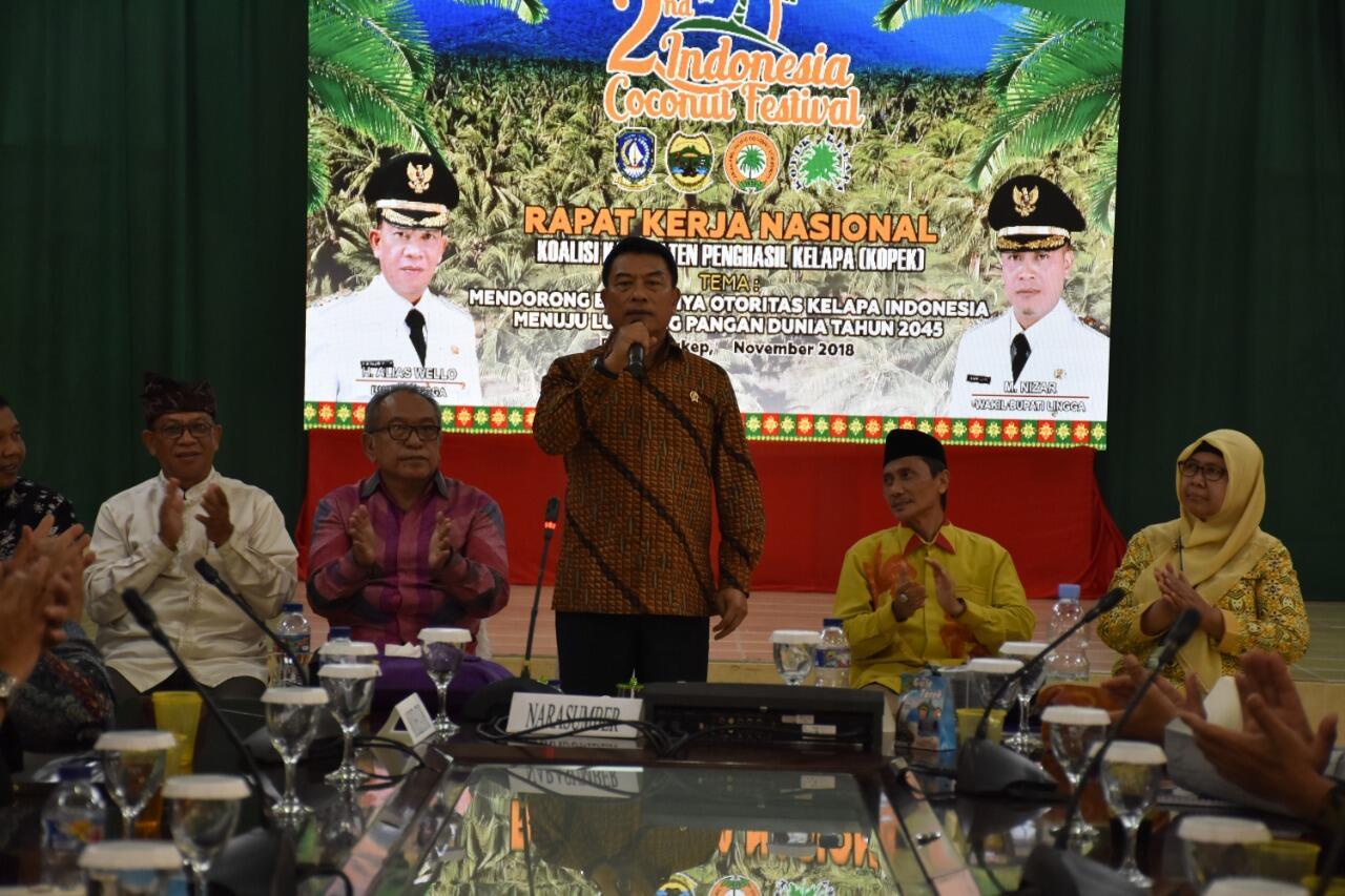 Daya Saing Kuat, Moeldoko: Wujudkan Ketahanan Kelapa Nasional