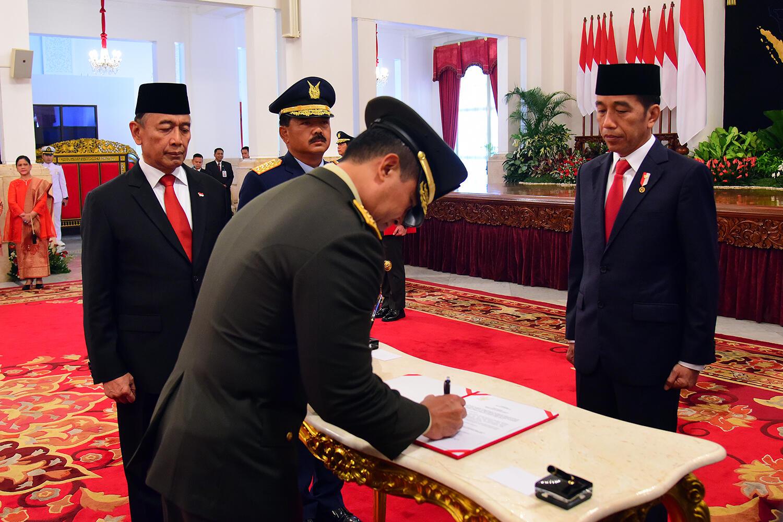 Gantikan Moelyono Presiden Lantik Andika Perkasa Jadi KSAD