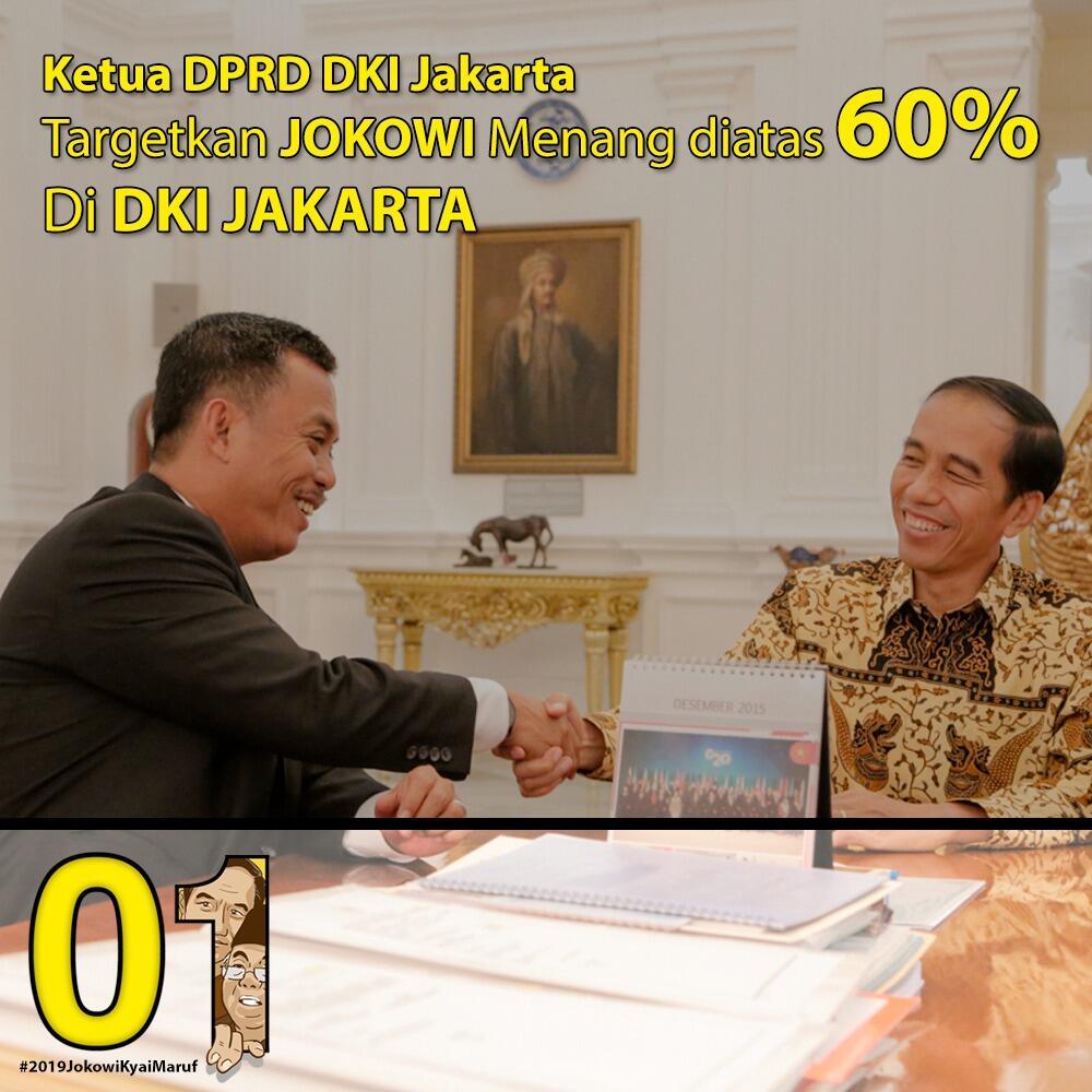 Target Perolehan Suara Jokowi-Ma'ruf di DKI Jakarta di Atas 60 Persen