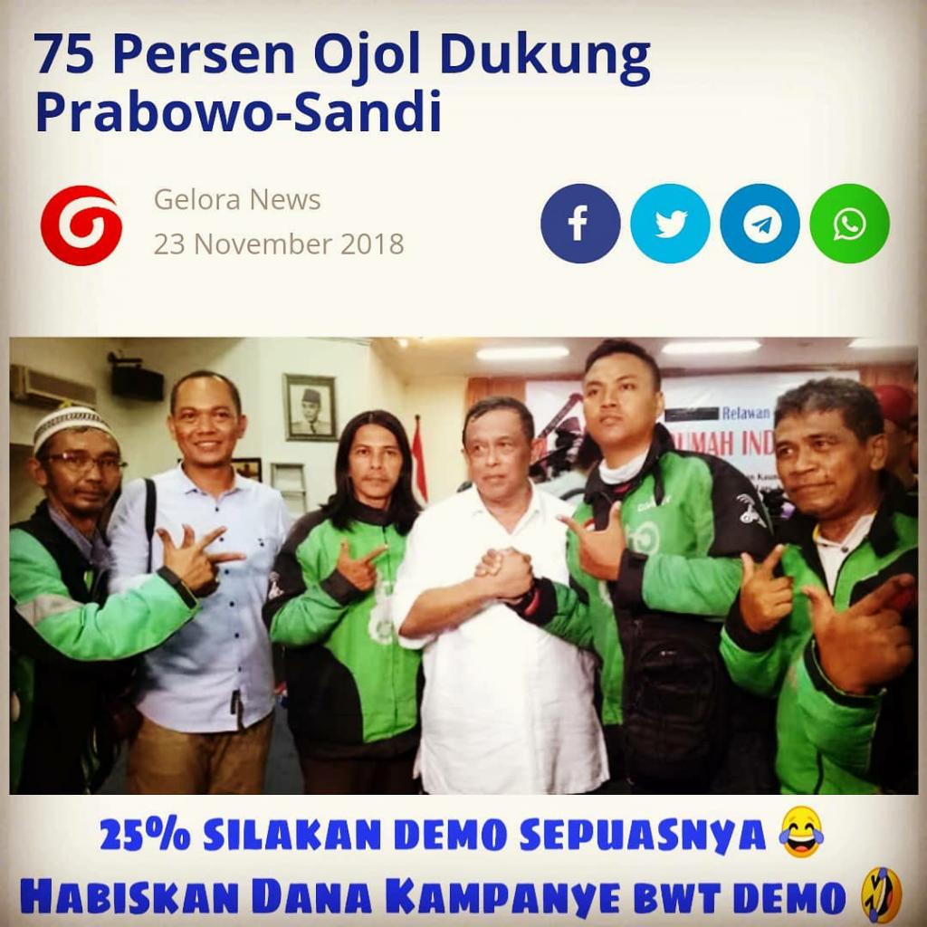 Prabowo Harus Minta Maaf ke Seluruh Driver Ojol di Indonesia