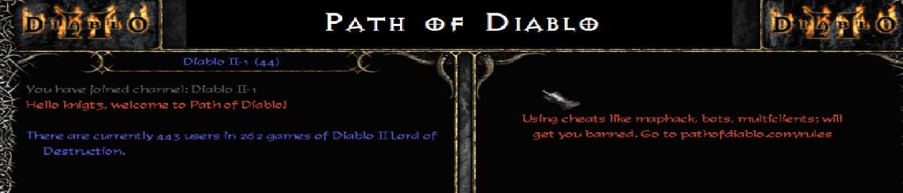 Path of Diablo, Diablo 2 Private Server