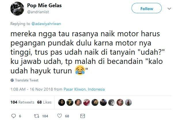 13 Tweet Lucu Buktikan Pacaran Lebih Asyik Pakai Sepeda Motor Daripada Mobil