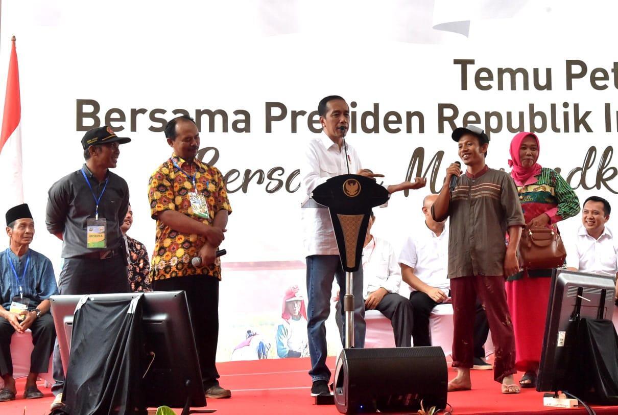 Temui Petani Lampung, Presiden Sampaikan Pentingnya Fungsi Bendungan