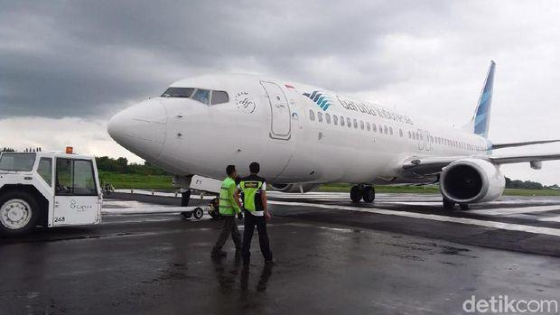 Begini Kondisi Pesawat Garuda yang Tergelincir di Bandara Yogya