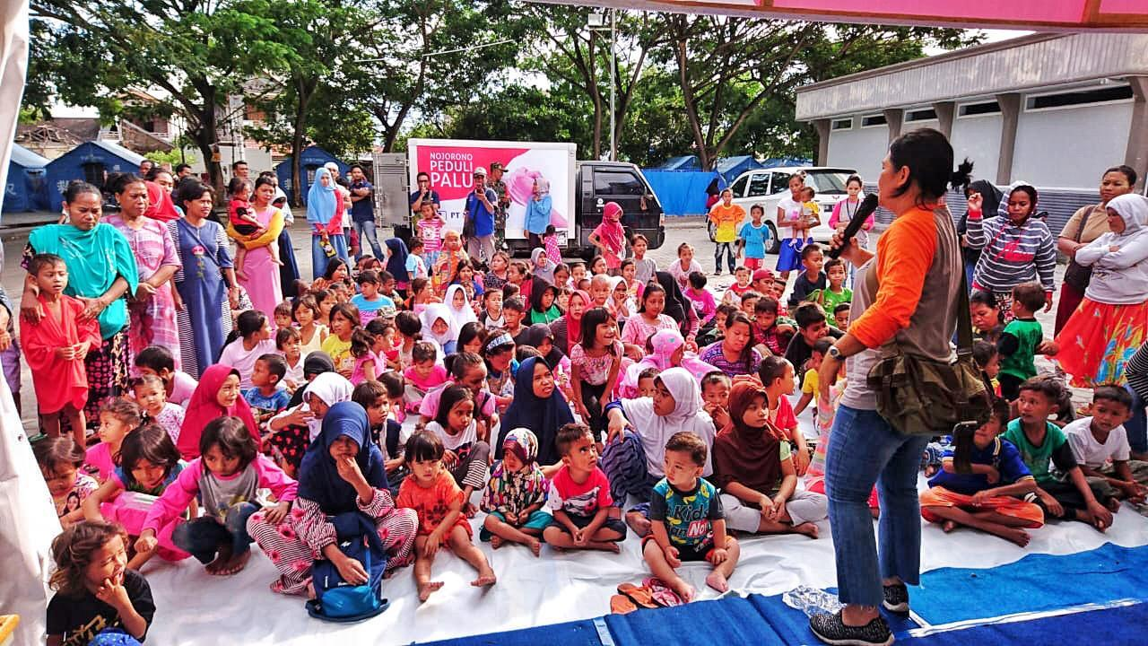 PT Nojorono Beri Edukasi Kesehatan dan Trauma Healing untuk Korban Gempa Palu
