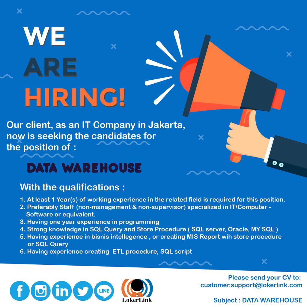 Info Lowongan Kerja (IT & PROGRAMMER) - JAKARTA