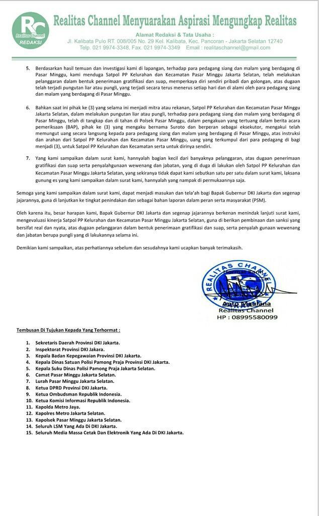 """Surat Untuk Gubernur DKI Jakarta"""