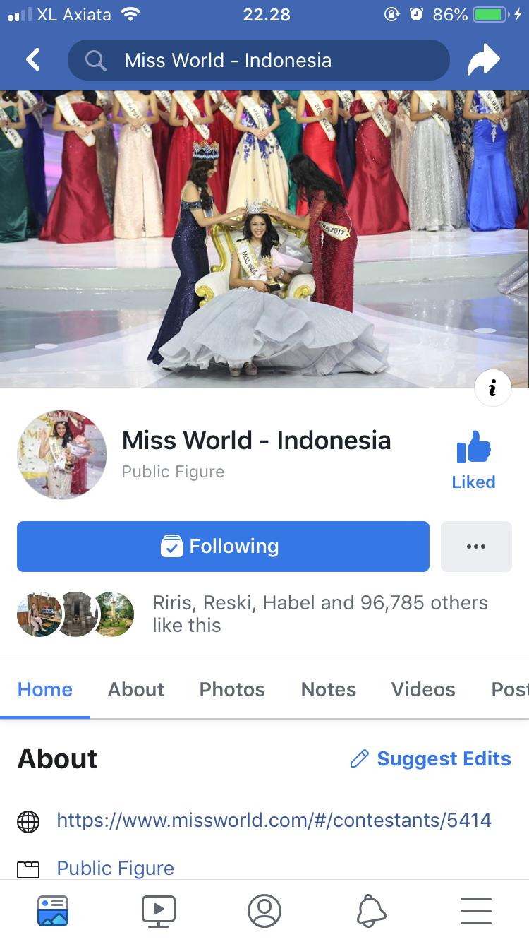 SATU HARI TERAKHIR VOTE MISS WORLD 2018