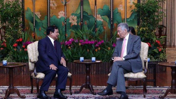 Prabowo Subianto Curhat ke Perdana Menteri Singapura Soal Alasannya Maju Pilpres 2019