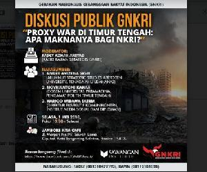 Politik Identitas dan SARA, GNKRI: Proxy War Timur Tengah Menular ke Indonesia