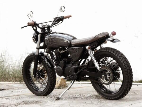 Melirik 5 Motor Tracker Karya Katros Garage, Builder Chopper Jokowi
