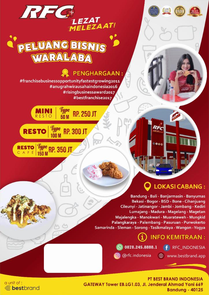 Peluang Bisnis Waralaba RFC Indonesia
