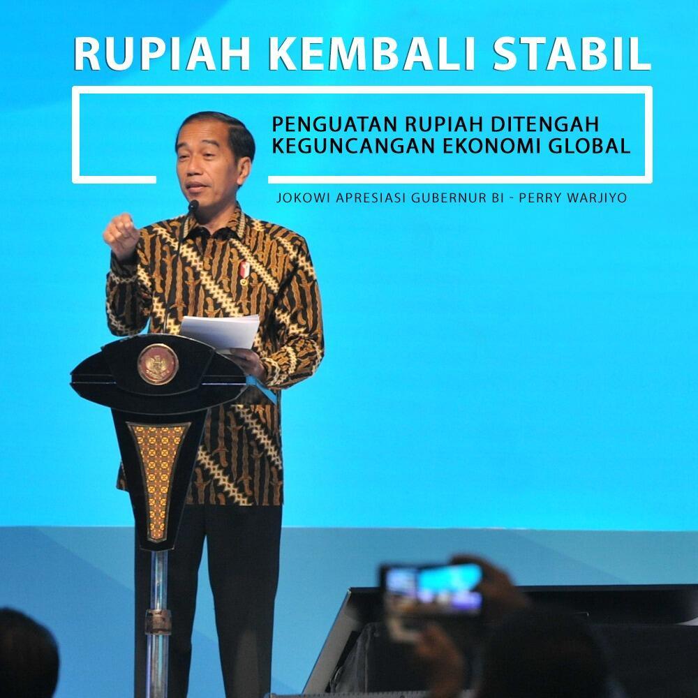 Presiden Jokowi Apresiasi Langkah Bank Indonesia Selamatkan Rupiah