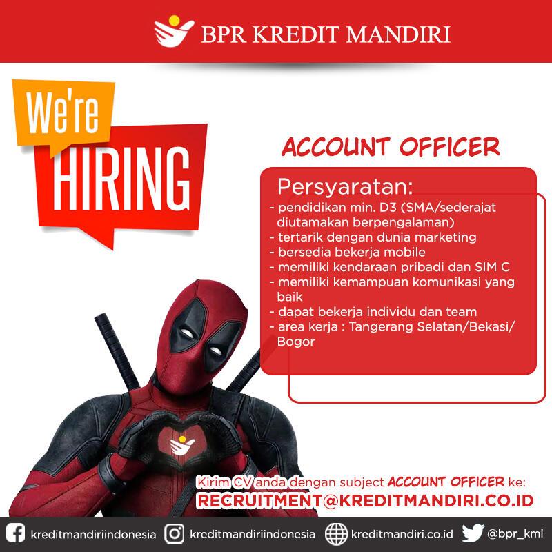 Lowongan Acount Officer BPR