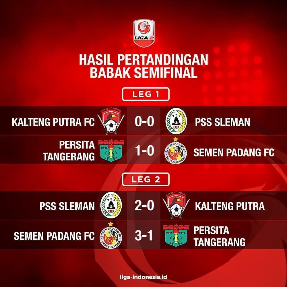 Hasil Semifinal Liga 2 Indonesia
