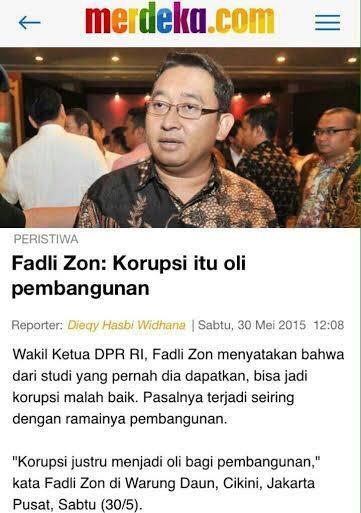 Fadli Zon Jelaskan Maksud Prabowo Sebut Korupsi Seperti Kanker Stadium 4