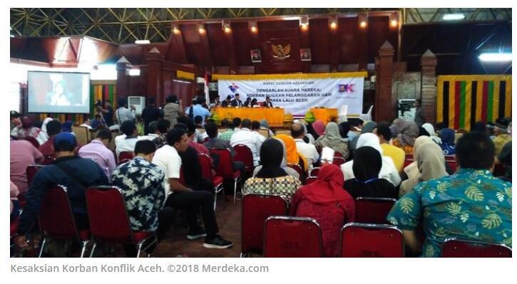 Tangis 3 Korban Konflik Aceh dari Tahun 1976 Sampai 2005 Pecah saat Bersaksi