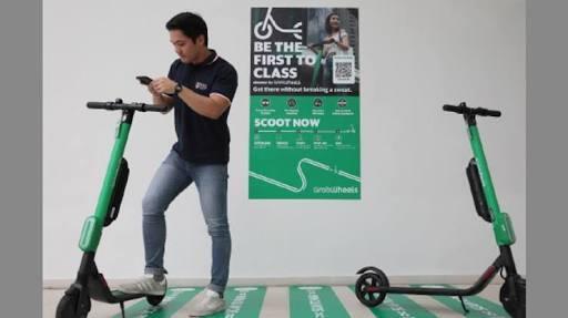 Grab Uji Coba e-Skuter di Singapura, Ini Cara Pakainya