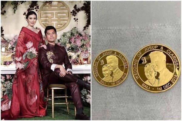 Pertunangan Megah ala Konglomerat Surabaya, Souvenirnya Koin Emas!