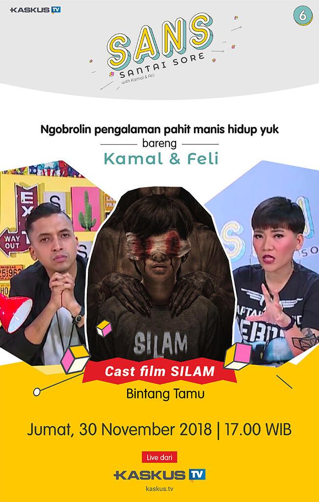 """Nongkrong Di SANS Sambil Cerita Pengalaman Hidup Bareng Cast Film """"SILAM""""!"""