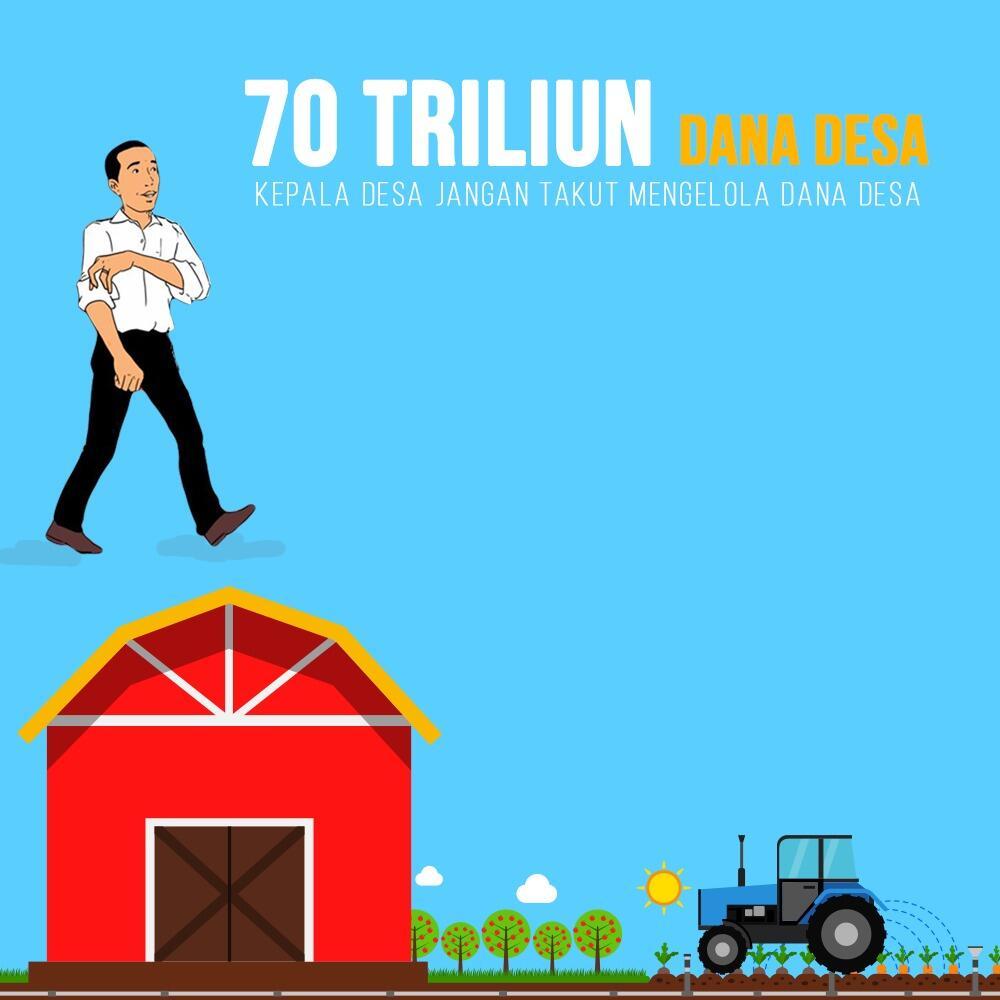 Jokowi: Dana Desa 2019 Lebih Dari Rp 70 Triliun