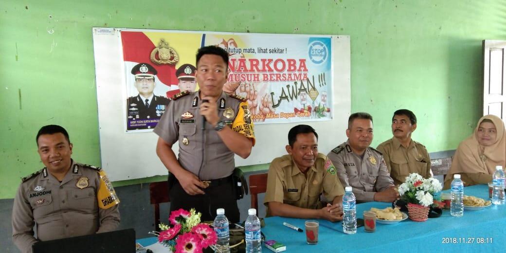 Kapolsek Muara Padang Sosialisasikan Bahaya Narkoba