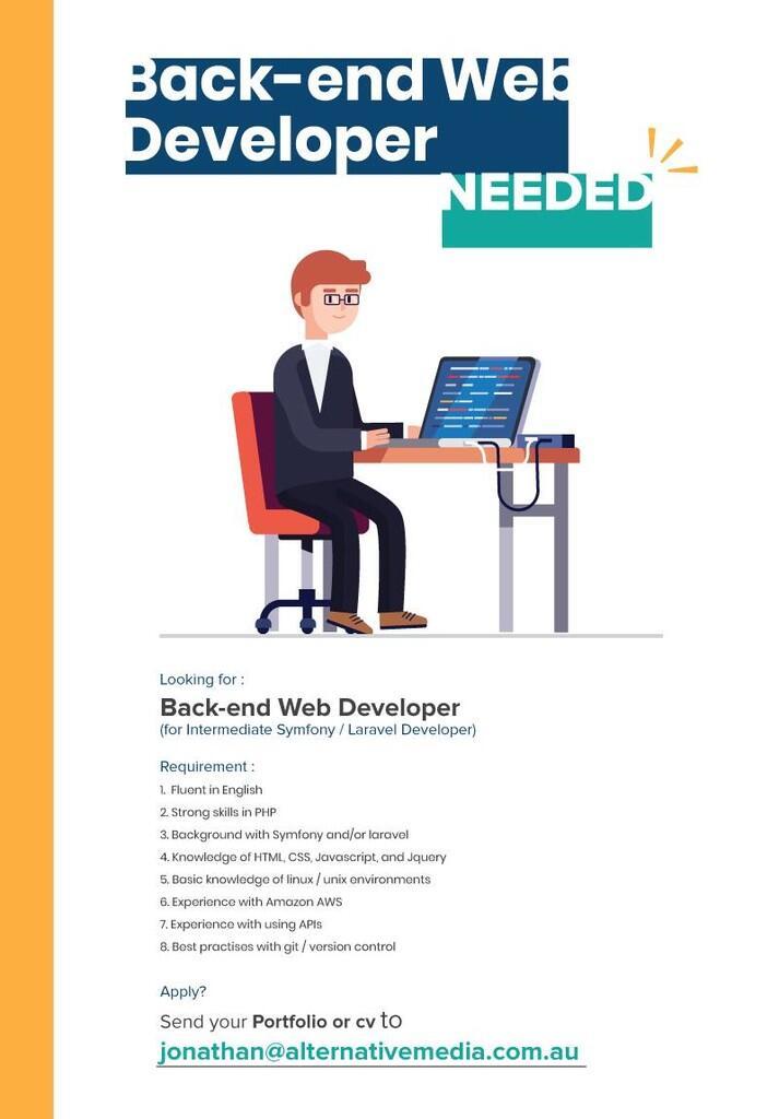 (Remote   Backend) Perusahaan Australia membutuhkan Backend Developer