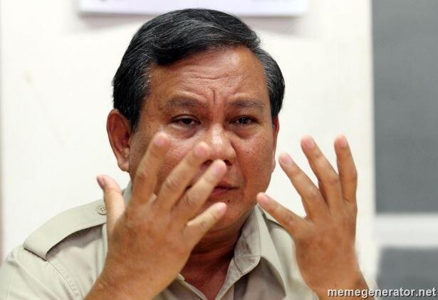 Prabowo: Rakyat Yogya Tetap Senyum Meski Tak Punya Uang