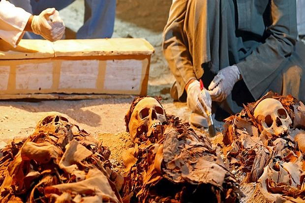Mesir Temukan Mumi-mumi dari 2.300 Tahun Lalu