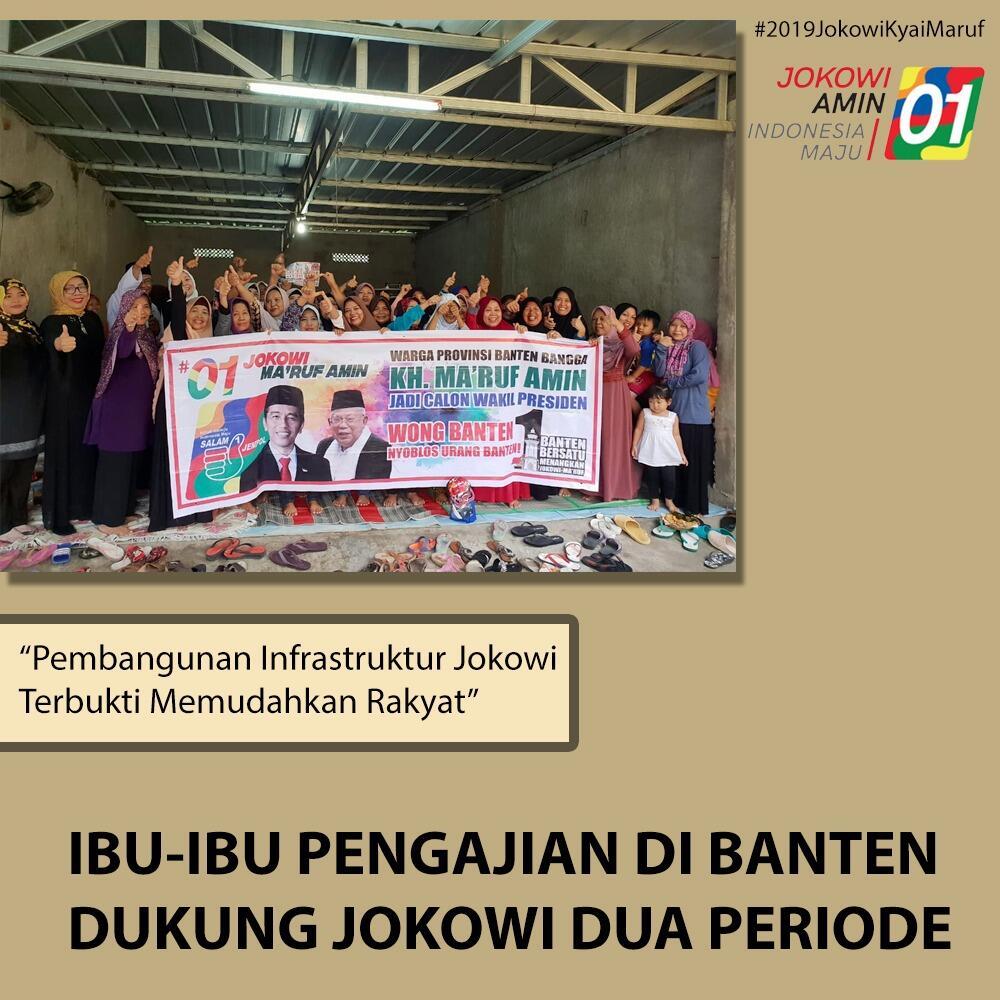 Ibu Pengajian di Tangerang Solid Dukung Jokowi-Ma'ruf