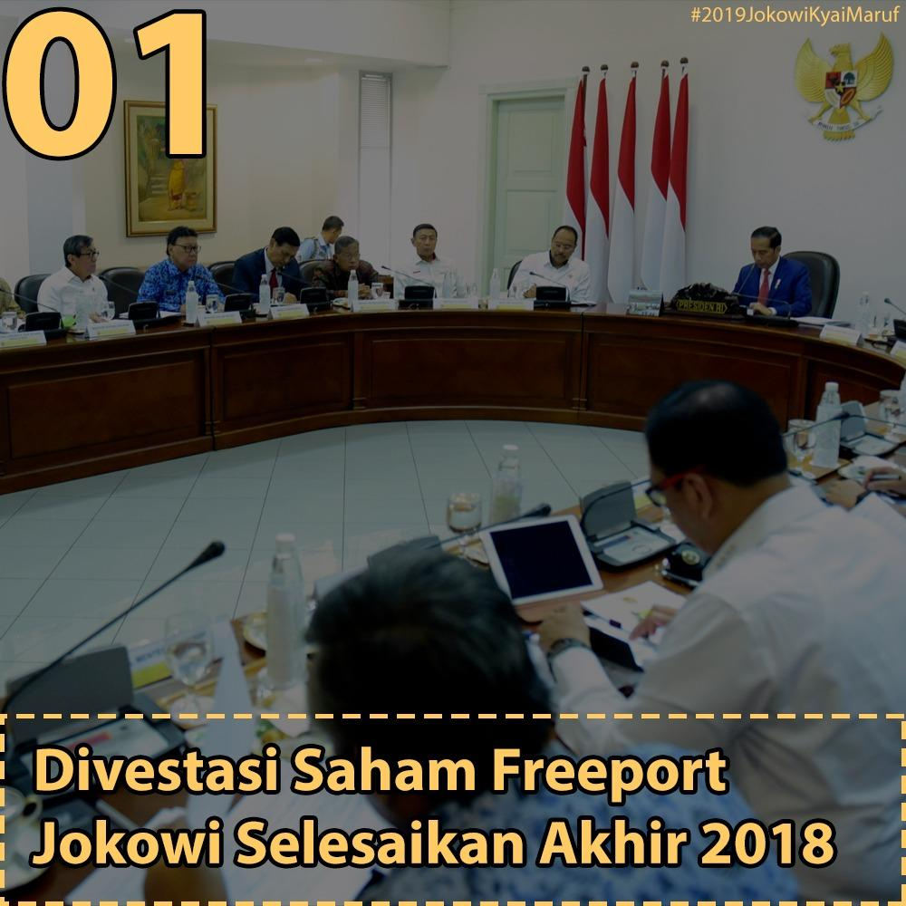 Jokowi Minta Divestasi Saham Freeport Difinalkan