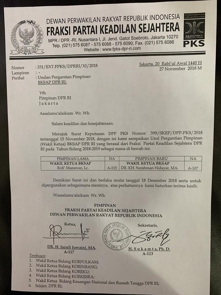 Berkelakuan Kurang Baik, Surahman Hidayat Tidak Pantas Jadi Pimpinan BKSAP DPR RI!!
