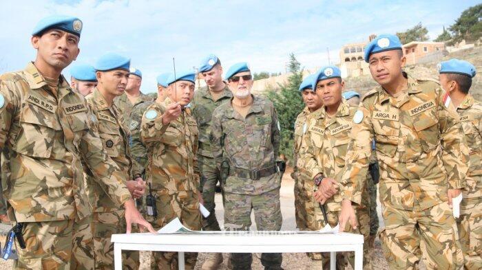 Jenderal Spanyol Tinjau Area Operasi Indobatt di Perbatasan Lebanon-Israel