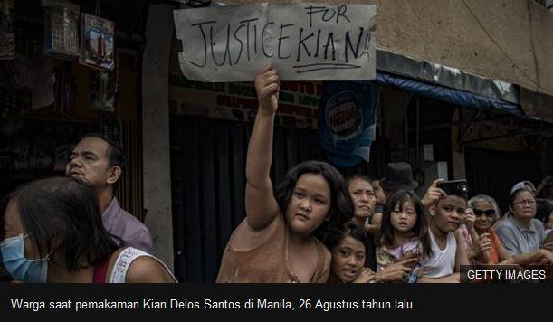 Pembunuhan dalam 'Perang Duterte Melawan Narkoba': Polisi Dihukum 40 Tahun Penjara