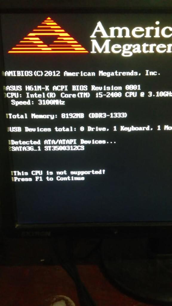 this CPU is not supported !