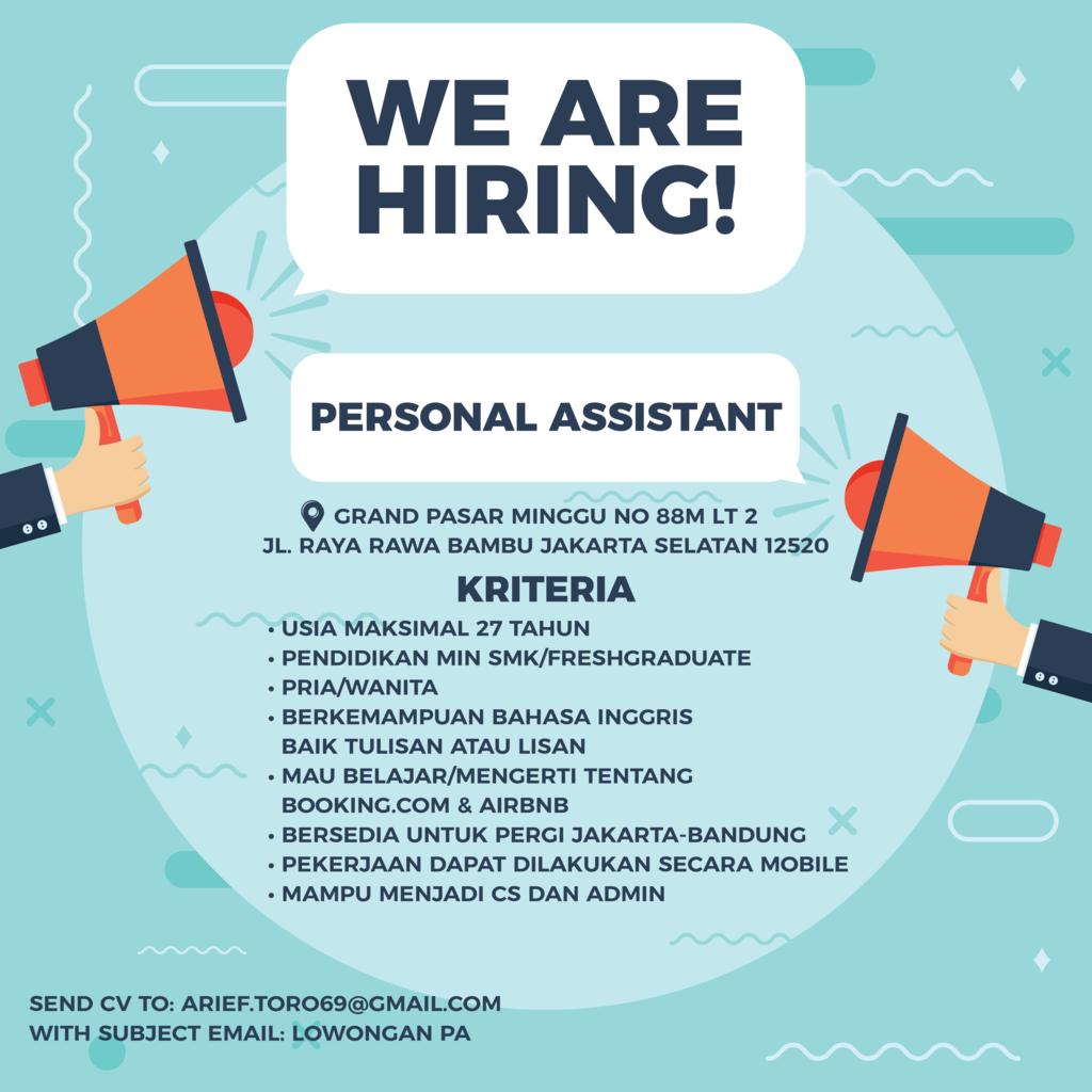 Lowongan Personal Assistant