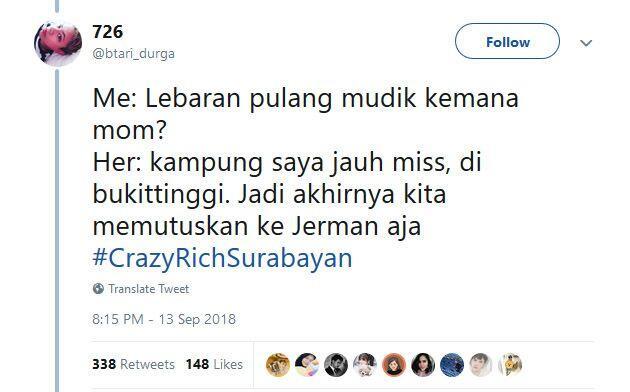 Bikin Geleng-Geleng Kepala, Ini Dia 5 Cuitan Kocak tentang #CrazyRichSurabayan !