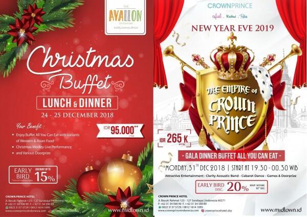Sambut Natal dan Tahun Baru, Ini Aneka Promo Spesial di Crown Prince!