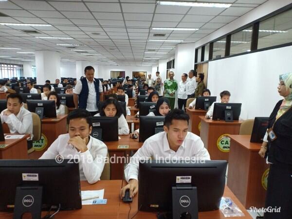 10 Foto Jonatan Christie & Para Atlet Indonesia saat Ujian CPNS