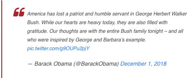 George Bush, Presiden Ke-41 Amerika Serikat Wafat