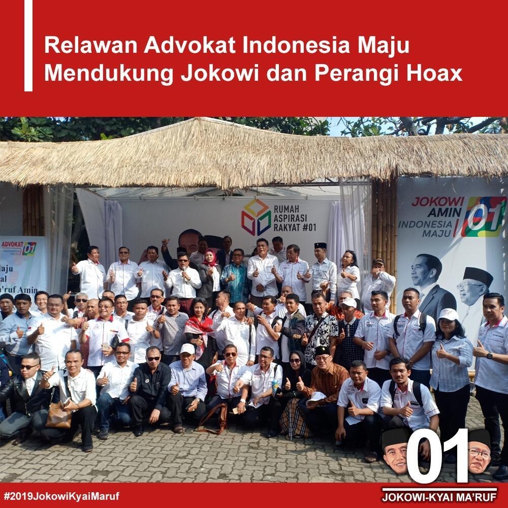 Timses Targetkan Rekrut 10.000 Advokat untuk Kawal Jokowi-Ma'ruf