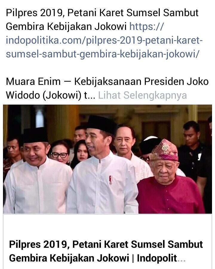 Pilpres 2019, Petani Karet Sumsel Sambut Gembira Kebijakan Jokowi