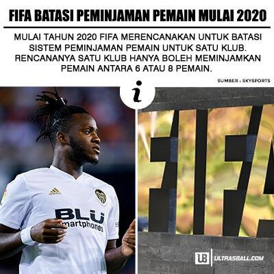 FIFA Batasi Jumlah Pinjaman Pemain Klub