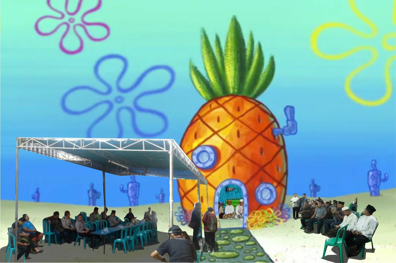 Berkat Netizen, Spongebob Bisa Mengadakan Doa Bersama.