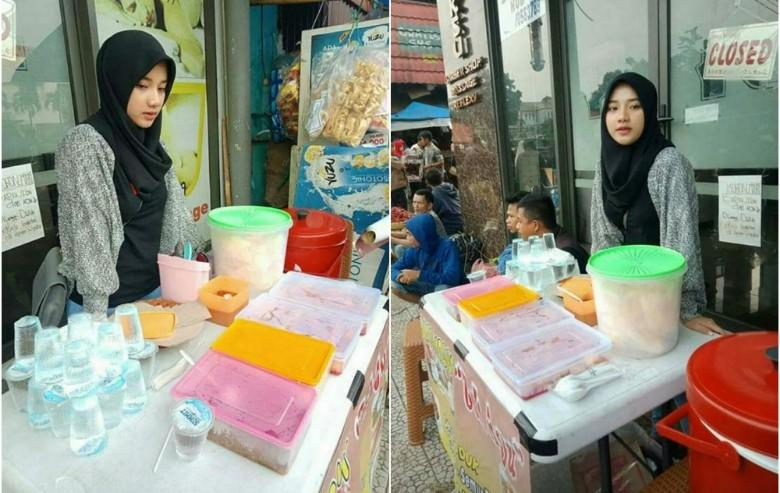 CANTIK Natural Tanpa OPLAS,Gadis Penjual Nasi Uduk Imut ini Mendadak Viral